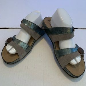 Romika Fidschi Leather Sandals Pewter Silver Shoes